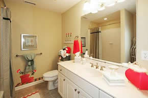Staged 2nd Bathroom In A Similar Abbey Model Home File Photo